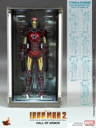 Hot Toys - 1/6 Scale Iron Man 2 - Hall of Armor Collectible (Set of 7)