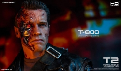 Enterbay - 1/4 Scale HD Masterpiece - Terminator 2 - The Judgment Day T-800 Battle Damaged Edition Collectible Figure