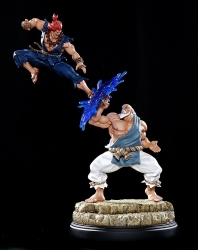 Pop Culture Shock - Street Fighter - Gouken vs Akuma Diorama