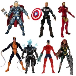 Hasbro - Marvel Legends Action Figures 2012 Wave 1 Case of 7 (Terrax Build-A-Figure)