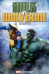 Sideshow - Marvel Collectibles - Hulk vs Wolverine Maquette Statue