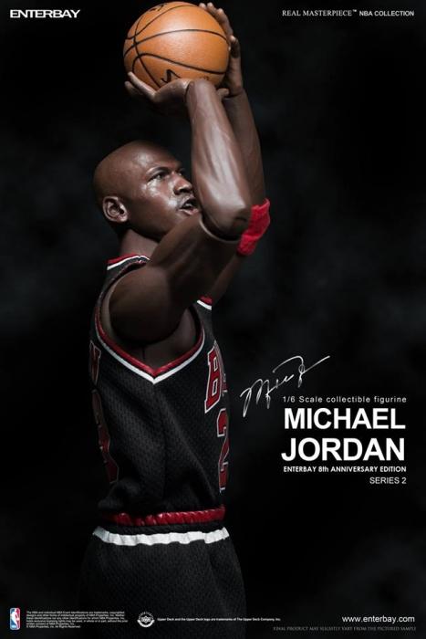 e4ebbb0b84a Enterbay - 1 6 Scale - NBA Collection - Michael Jordan (Series 2)  23 Black  Jersey Limited Edition Collectible Figure